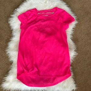 Tops - Pink mesh maternity work put shirt